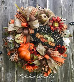 gorgeous wreaths ideas for thanksgiving door decoration 2019 Thanksgiving Door Decorations, Thanksgiving Wreaths, Autumn Wreaths, Holiday Wreaths, Fall Decorations, Halloween Wreaths, Wreath Fall, Thanksgiving 2020, Decoration Party