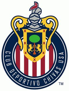 Club Deportivo Chivas USA Primary Logo (2006) - Adjusted to a darker red and blue in the logo.  Accurate colours courtesy of www.ssur.org.