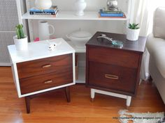Number Fifty-Three: Painted & Stained Mid Century End Tables