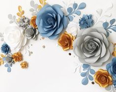 Paper Flowers by MIO GALLERY are gorgeously large, make you want to walk up and see them up close, and they never die. What a pretty world to live in, right? Use them as a backdrop, photo prop or your wedding arch alternative..... This set of 16 Unique Large Paper Flowers + 10 paper leaves contains: •4 = 2 Small Hydrangea flowers •5 = 3 Big Hydrangea flowers •6 = 5 Small Garden Roses •7 = 3 Medium Garden Roses •13 = 3 Big Garden Roses •10 = 10 Paper leaves Dont...