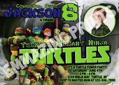 Teenage Mutant Ninja Turtles Invitation Photo by EmmazingPrints