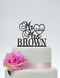Wedding Cake Topper,Mr and Mrs Cake Topper With Last Name,Custom Cake Topper,Personalized Cake Topper,Wedding Decoration C081 by SpecialDesignForYou on Etsy https://www.etsy.com/listing/239811567/wedding-cake-toppermr-and-mrs-cake