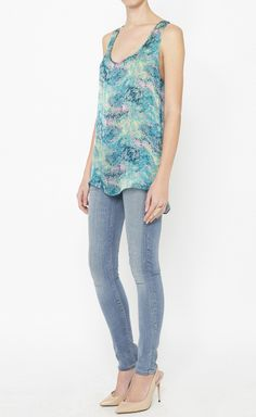 Adam by Adam Lippes Green And Multicolor Top   VAUNTE