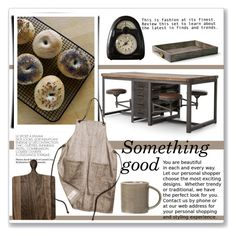 """Something good"" by annatiblog ❤ liked on Polyvore featuring interior, interiors, interior design, home, home decor, interior decorating, AERIN, kitchen and rustic"