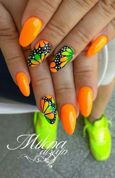 Trendy Summer Manicure – TOP Wonderful Inspirations for Summer Nails … – neon nail art Neon Nail Art, Neon Nails, Cute Acrylic Nails, Fancy Nails, Cute Nails, Pretty Nails, Fabulous Nails, Perfect Nails, Spring Nails