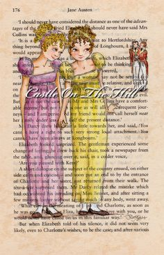 Kitty and Lydia  Jane Austen Pride and by CastleOnTheHill on Etsy, $60.00