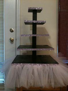cupcake stand for Sweet 16.  $175 made of black walnut