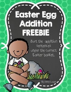 In this FREE Easter-themed Math center your kiddos will sort addition sentences under the correct answer for sums up to 10. Enjoy!