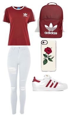 """Untitled #189"" by adoremiah ❤ liked on Polyvore featuring adidas, Topshop and Casetify"