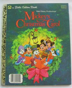 Mickey's Christmas Carol, Vintage Little Golden Book, Walt Disney Productions. $4.95, via Etsy.