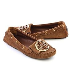 Tory Burch Brown Suede Leather Loafers