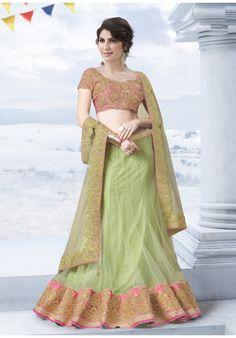 Designer-Lehenga-Off-White,-Blue-Net-Choli-Pure-Silk-Dupatta-Netwith-unstitched-Blouse