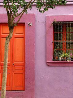 Oranje en roze