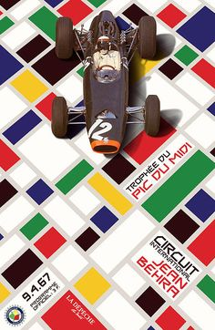 French Grand Prix 1967 Circuit Jean Behra Poster By Nomad