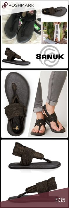 JUST IN ▪️'GOLD METALLIC' YOGA SLING 2 SANDAL Soft straps form the zen-like fit of these sandals featuring a re-purposed yoga mat footbed to cradle feet in cushioned comfort. The signature Happy U sole clings to the ground for an improved grip ▪️Lightweight, two-way stretch metallic knit upper ▪️Yoga mat footbed with a sealed edge ▪️Happy U rubber sponge outsole🛍BUNDLE=SAVE  🚫TRADE  💯Brand Authentic  ✈️Ship Same Day  🖲USE BLUE OFFER BUTTON TO NEGOTIATE   ✔️Ask Questions Not Answered In…