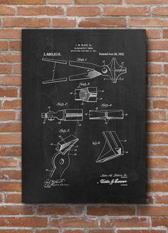 Blacksmith's Tongs Patent Print Blacksmith's Patent by dalumna