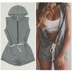hooded romper pattern women - Google Search More