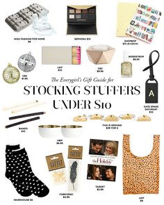 Here is a great holiday gift guide with over 200 gift ideas under $100!  There are also a few special treats over $100 (cashmere for mom, the perfect suitcase for the girl on the go). All of the gifts are separated by category, making it super easy to find inspiration, no matter who you are looking to surprise this year. Check out all of the ideas here:http://theeverygirl.com/the-everygirls-2014-holiday-gift-guide
