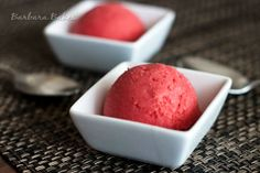Strawberry Lime Sherbet Recipe | Barbara Bakes