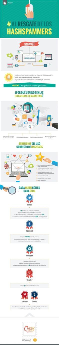 Información importante y valiosos consejos sobre Hashtags y Redes Sociales, para saber cómo emplearlos correctamente, en qué número y dónde.