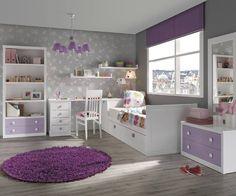 Mor çocuk odası