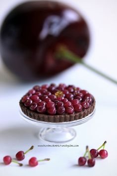 1:12 scale Cherry and Chocolate Tart by Almadejonge on DeviantArt