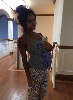 """Pregnant Nicole """"Snooki"""" Polizzi posted a picture of her baby bump while wearing pajamas via Instagram on Saturday, July 5"""