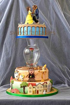 OH MY GAAAHHH, Beauty & the Beast cake! is this screaming my name, or is it screaming my name?!