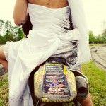 Trash the dress dirtbike