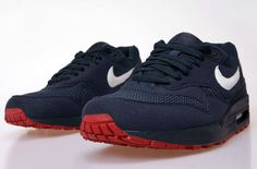 Nike Airmax 1 - obsidian, university red - fresh and funky!
