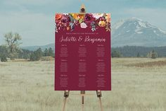 Paper Alphabet Wedding Invitations: This wedding seating chart design features a beautiful burgundy/orange floral watercolour illustration with a classic calligraphy style script. Unique Invitations, Wedding Invitation Design, Printable Invitations, Baby Shower Invitations, Birthday Invitations, Watercolour Illustration, Seating Plan Wedding, Alphabet Design, Chart Design