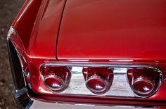 1961 Pontiac Bonneville Tri-power Convertible Taillights - Car photographs  by Jill Reger