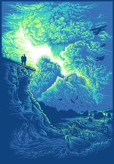 """Radiant Dawn"" Art Print by Dan Mumford. Is that Rose & The Doctor?"