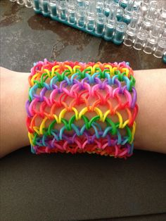 Dragon scale rainbow loom bracelet