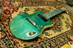 Electric Guitars Made From Old Skateboard Decks #Deck, #Guitar, #Skateboard, #Upcycled