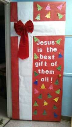christian decorated christmas doors for pre k - Google Search
