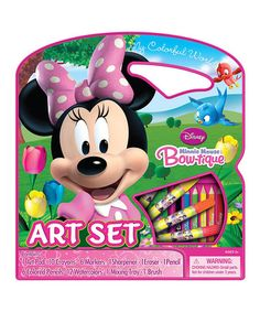 Another great find on #zulily! Minnie Mouse Bow-Tique Art Set #zulilyfinds