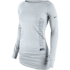 Women's Nike Gray Seattle Seahawks Stadium Epic Crew Long Sleeve Performance T-Shirt