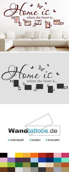 Lovely Wandtattoo Home is Fotorahmen als Idee zur individuellen Wandgestaltung Einfach Lieblingsfarbe und Gr e ausw hlen