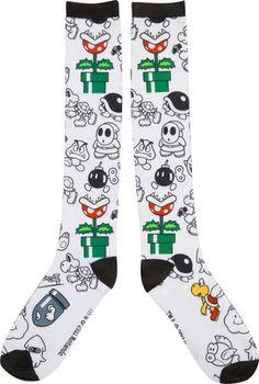 Bad Guys Nintendo Knee High Socks