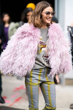 074105d40f13 Olivia Palermo Pictures and Photos. Olivia Palermo OutfitOlivia Palermo  LookbookOlivia Palermo StylePink Faux Fur CoatPink ...