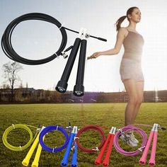 Stylish Speed Wire Skipping Adjustable Jump Rope Exercise Cardio Crossfit Sport *** Check this awesome product by going to the link at the image.