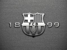 FC Barcelona Logo Black and White