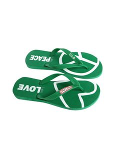 I am Peace and Love Grass Flip Flops - FOOTWEAR - ACCESSORIES