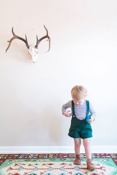 Handmade Forest Green Short-all. Handmade modern vintage fashion. https://www.etsy.com/listing/254310407/forest-green-shorts-with-suspender #vintagestyle #handmade #shopsmall #kidsfashion #toddler #boyclothes #boymom #huntergreen #suspender #coverall #onepiece #ewmccall