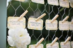 Unique Place Card Displays | ... covered in the inspiration fabric were a unique way to top tall vases