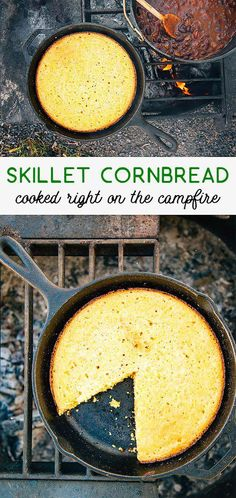 Skillet Cornbread Cornbread made from scratch, cooked in a skillet right over the campfire! A perfect camping recipe.Cornbread made from scratch, cooked in a skillet right over the campfire! A perfect camping recipe. Family Camping, Tent Camping, Camping Hacks, Camping Checklist, Camping Essentials, Glamping, Camping Supplies, Camping Trailers, Camping Guide