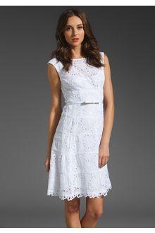 Nanette Lepore Balloon Lace Dress - Lyst