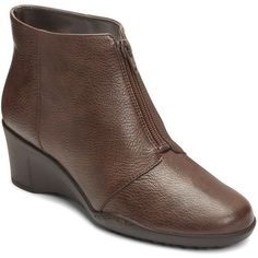 A2 by Aerosoles World Tour Women's Wedge Ankle Boots ($80) ❤ liked on Polyvore featuring shoes, boots, ankle booties, brown, ankle boots, wedge ankle boots, short boots, wedge ankle booties and brown boots