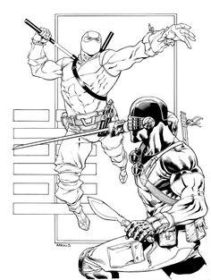 Snake Eyes vs Storm Shadow by Robert Atkins Snake Eyes Gi Joe, Fighting Poses, Comic Books Art, Book Art, Ninja Art, Fanart, Storm Shadow, Gi Joe Cobra, Fantasy Warrior